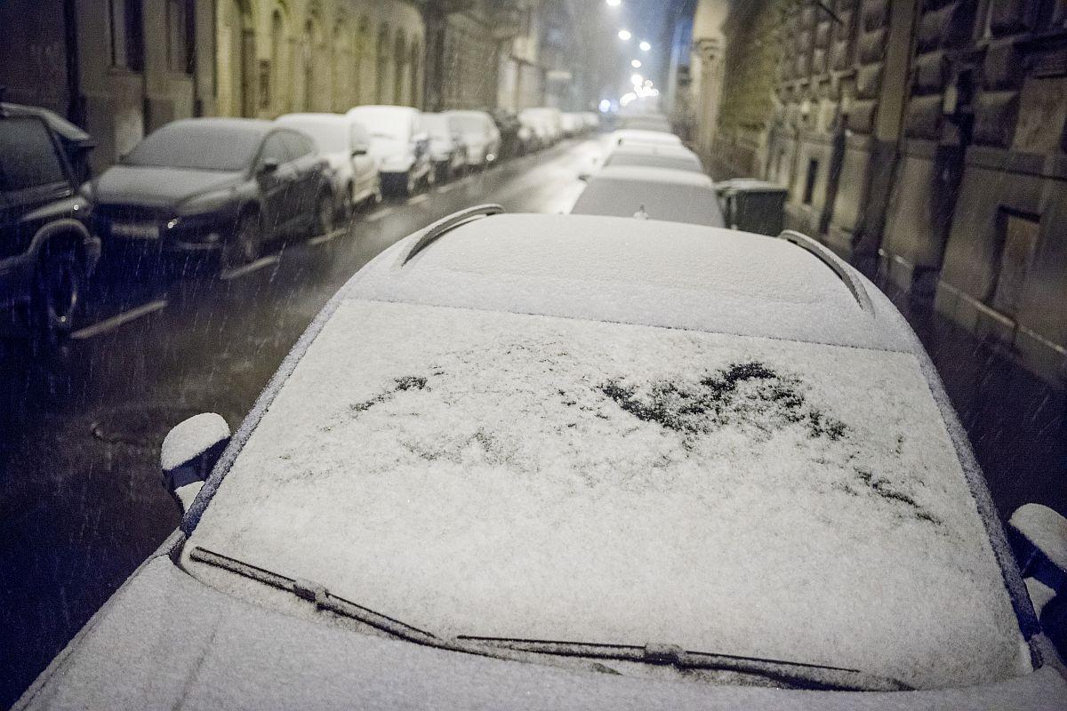 hó havazás Budapest