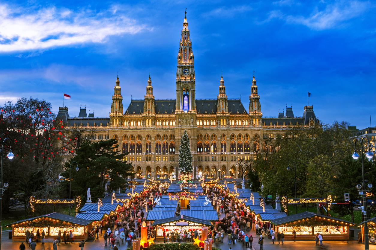 Adventi vásár Bécsben.