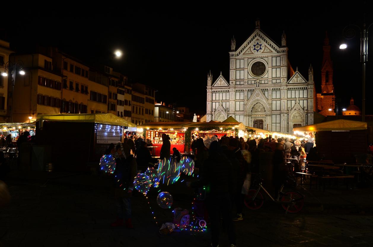 Adventi vásár Firenzében.