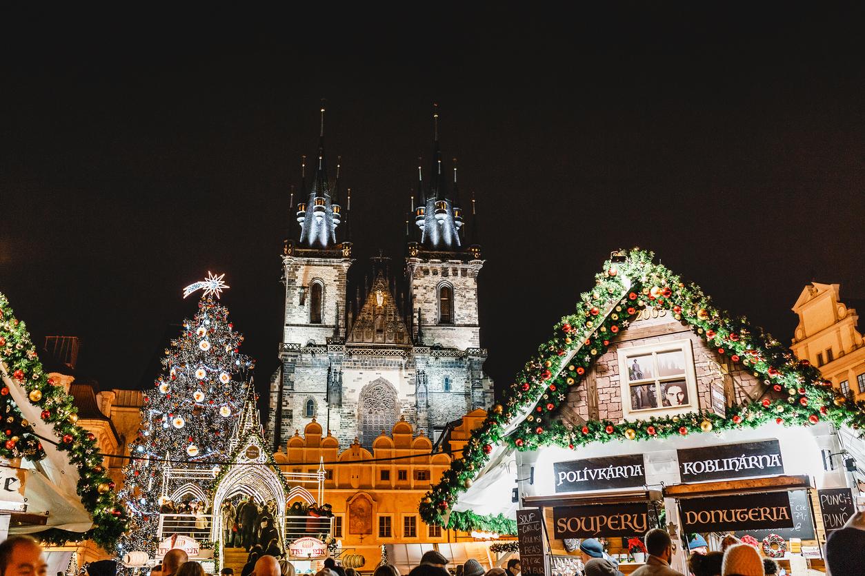 Adventi vásár Prágában.