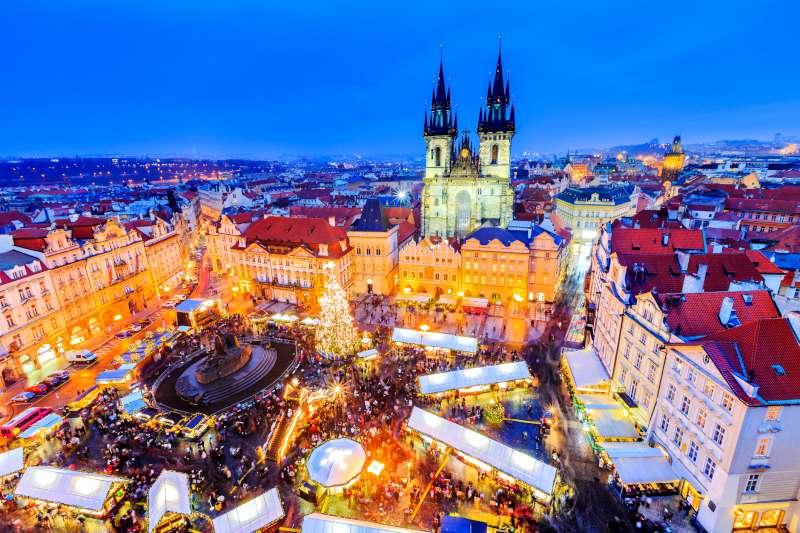 Karácsonyi vásár Prágában.