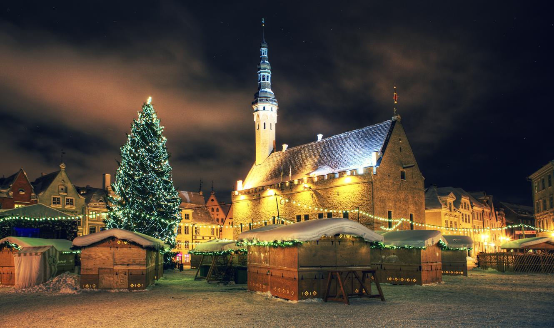 Adventi vásár Tallinnban.