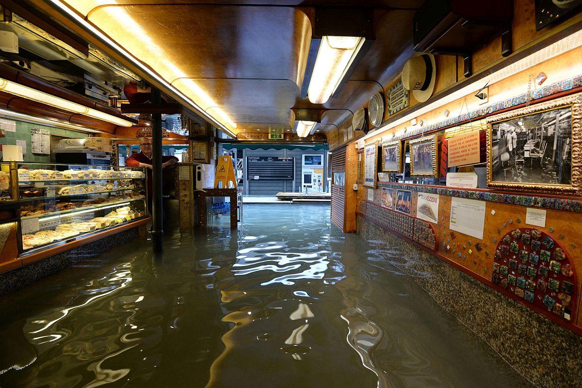 Velence áradás Olaszország tenger