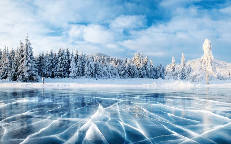 Ukrajna télen, fehér Karácsony