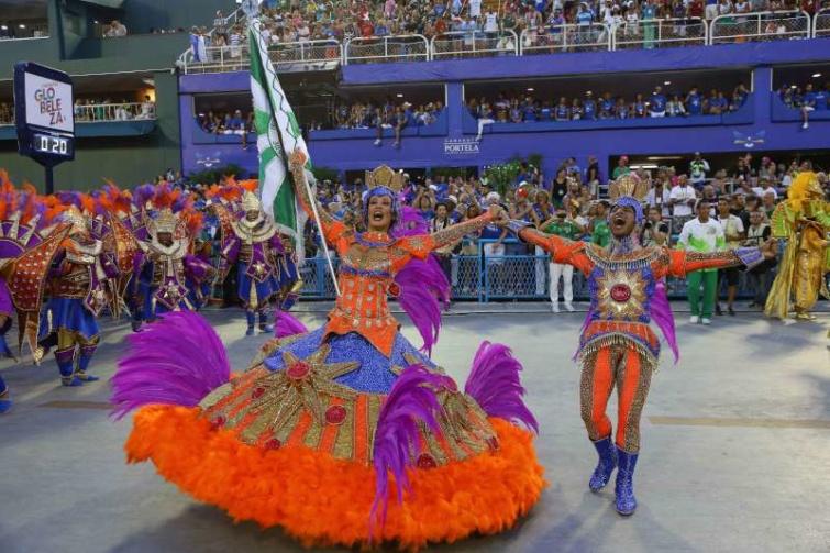 Táncosok a riói karneválom.