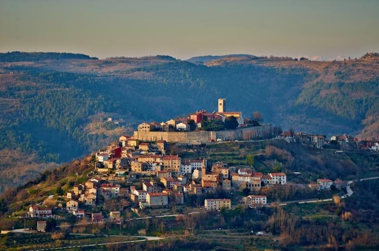 Motovun községe Horvátországban.