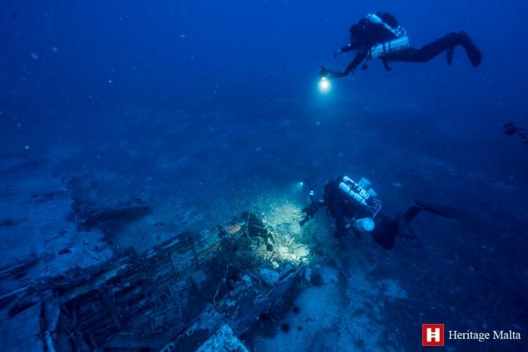 Történelmi emlékek Máltán a tenger mélyén
