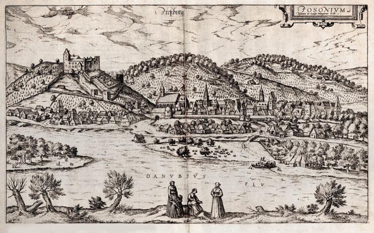 Pozsony látképe 1588-ból.