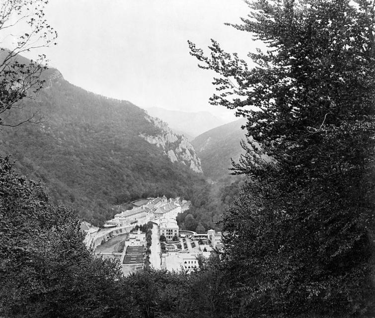 Herkulesfürdő látképe 1895-ből