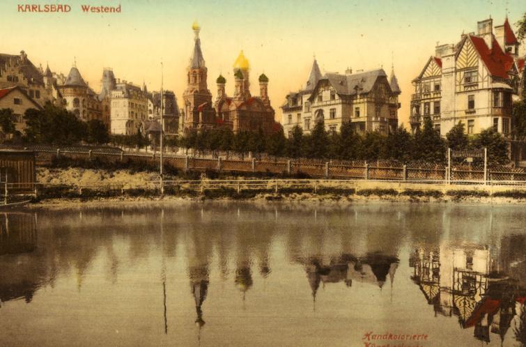Karlsbad látképe 1903-ból.