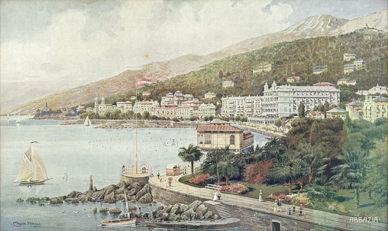 Abbázia látképe 1911-ből.