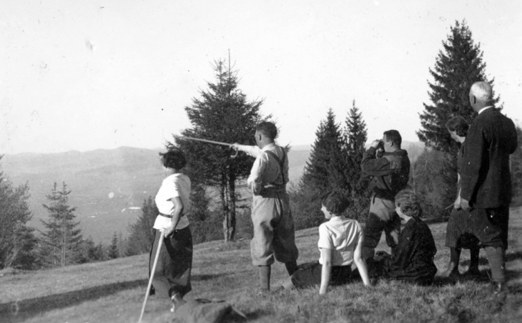 Turisták Erdélyben, 1940.