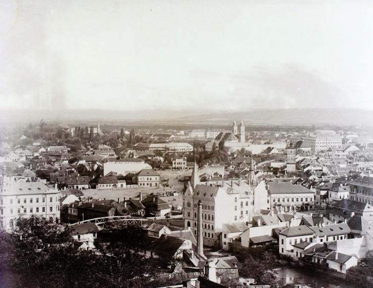 Kolozsvár látképe a fellegvárból fotózva, 1900.