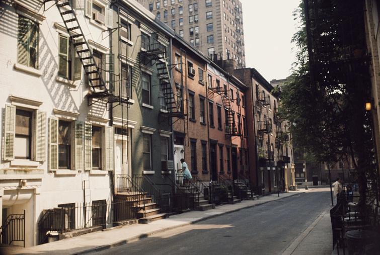 Greenwich Village házai 1960 környékéről.