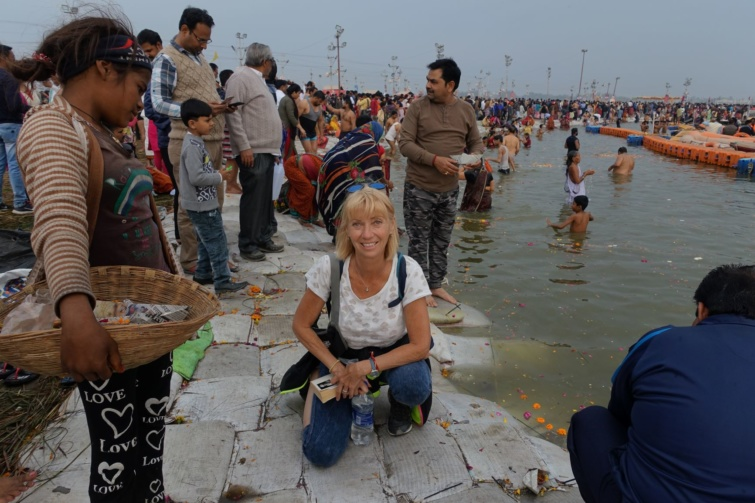 A Gangesz partján az észak-indiai Prajágrádzs városában.