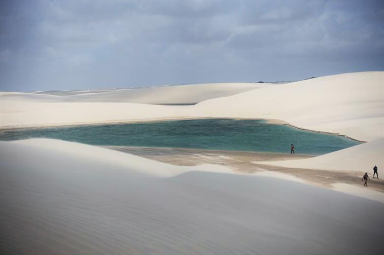 A brazil sivatag Barreirinhas közelében.
