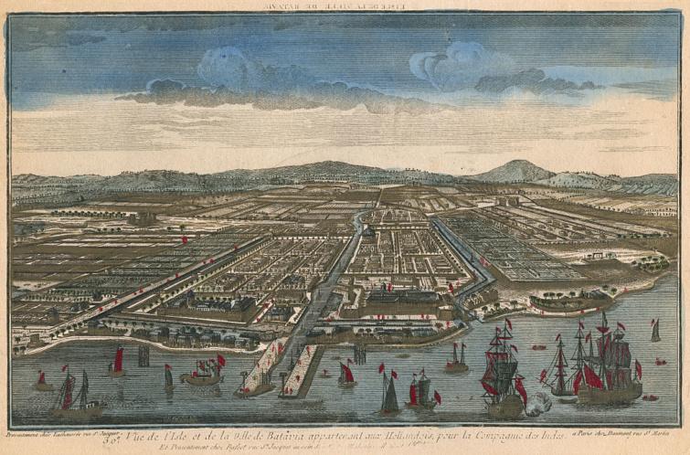 Batávia a 18. század közepén.