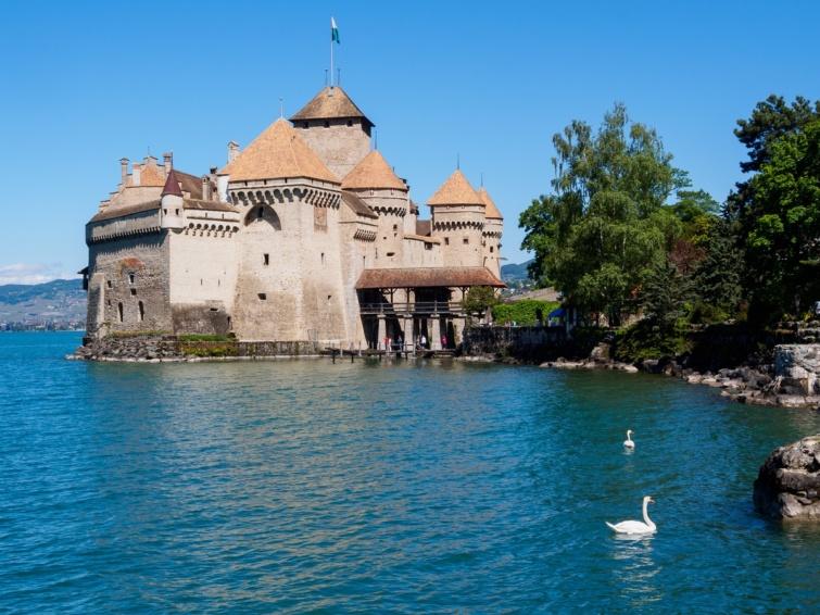 Chillon vára Svájcban.