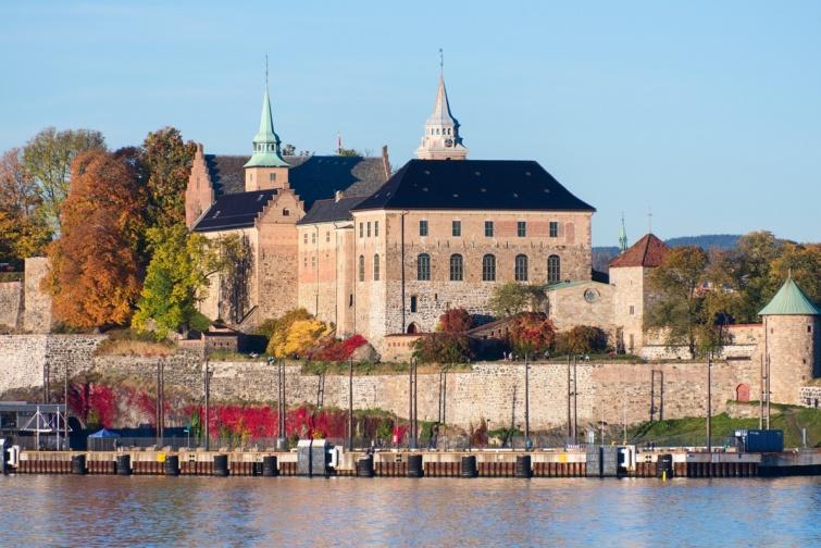 Akershus erődje Osloban.