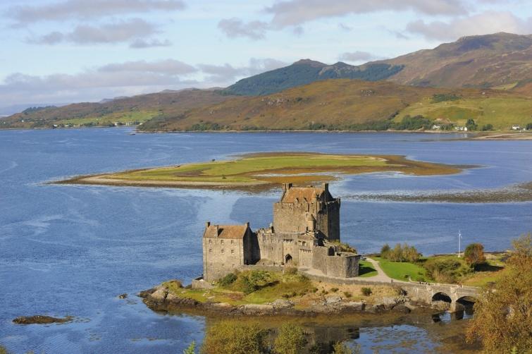 Eilean Donan vára Skóciában.