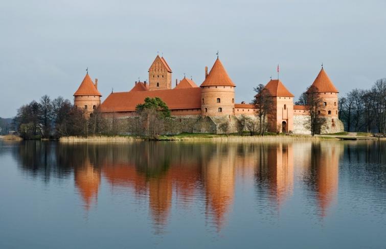 Trakai sziget vára Litvániában.