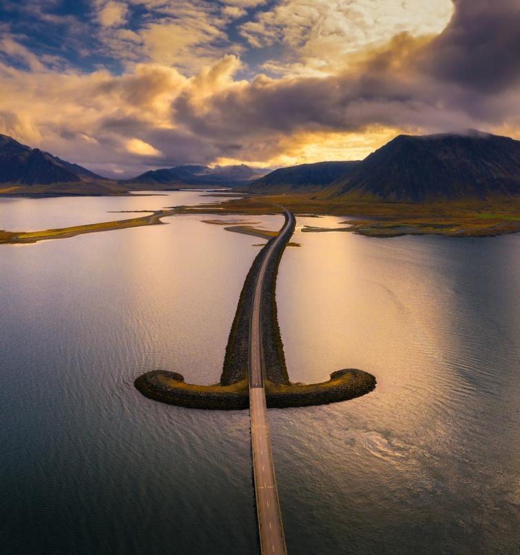 Az 1-es út vonala Izlandon.