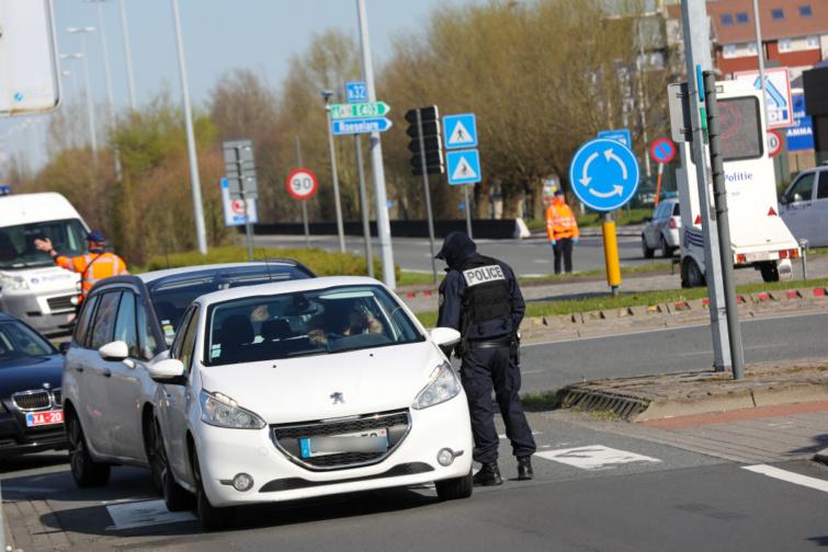 Ellenőrzés a belga-francia határon.