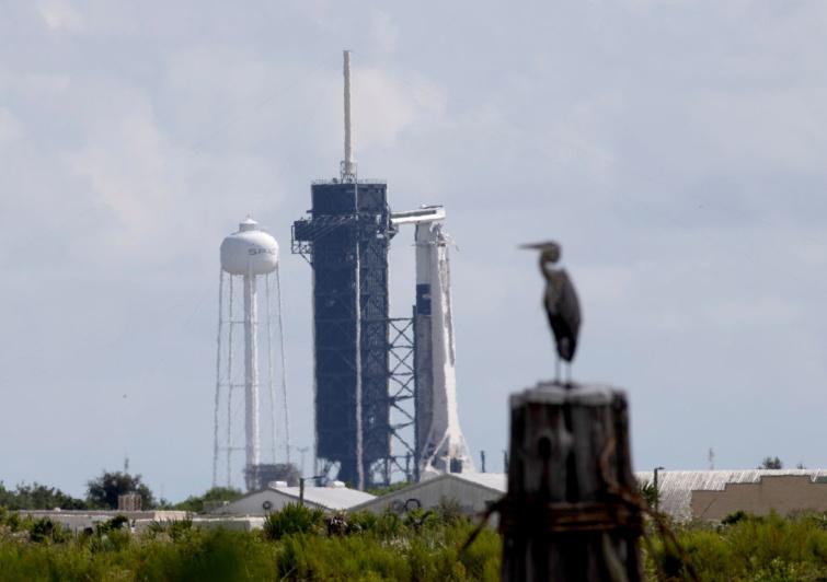 A Crew Dragon kilövésre készen áll a floridai Cave Canaveralban, 2021. szeptember 14-én.