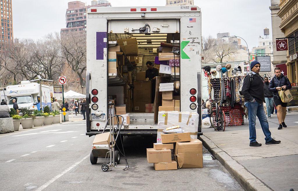 Ingyenes szállítási nap New Yorkban, 2015-ben.