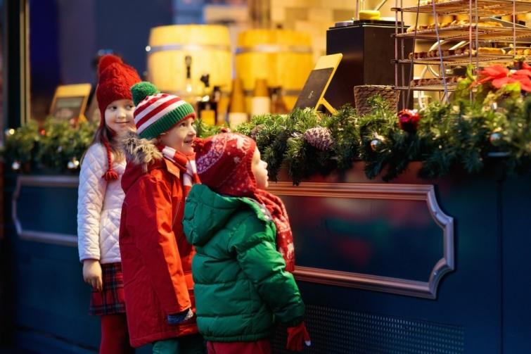 vásárlás karácsonykor gyerekkel