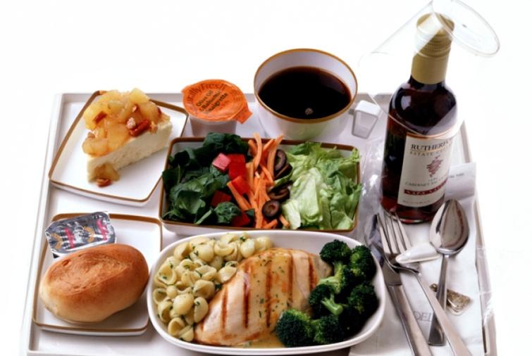 repülőgép menü étel