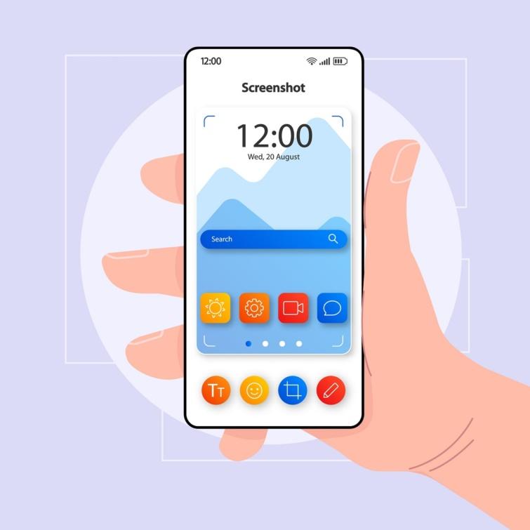 Képernyőkép készítése okostelefonon.